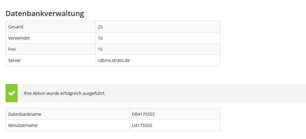 datenbank logins