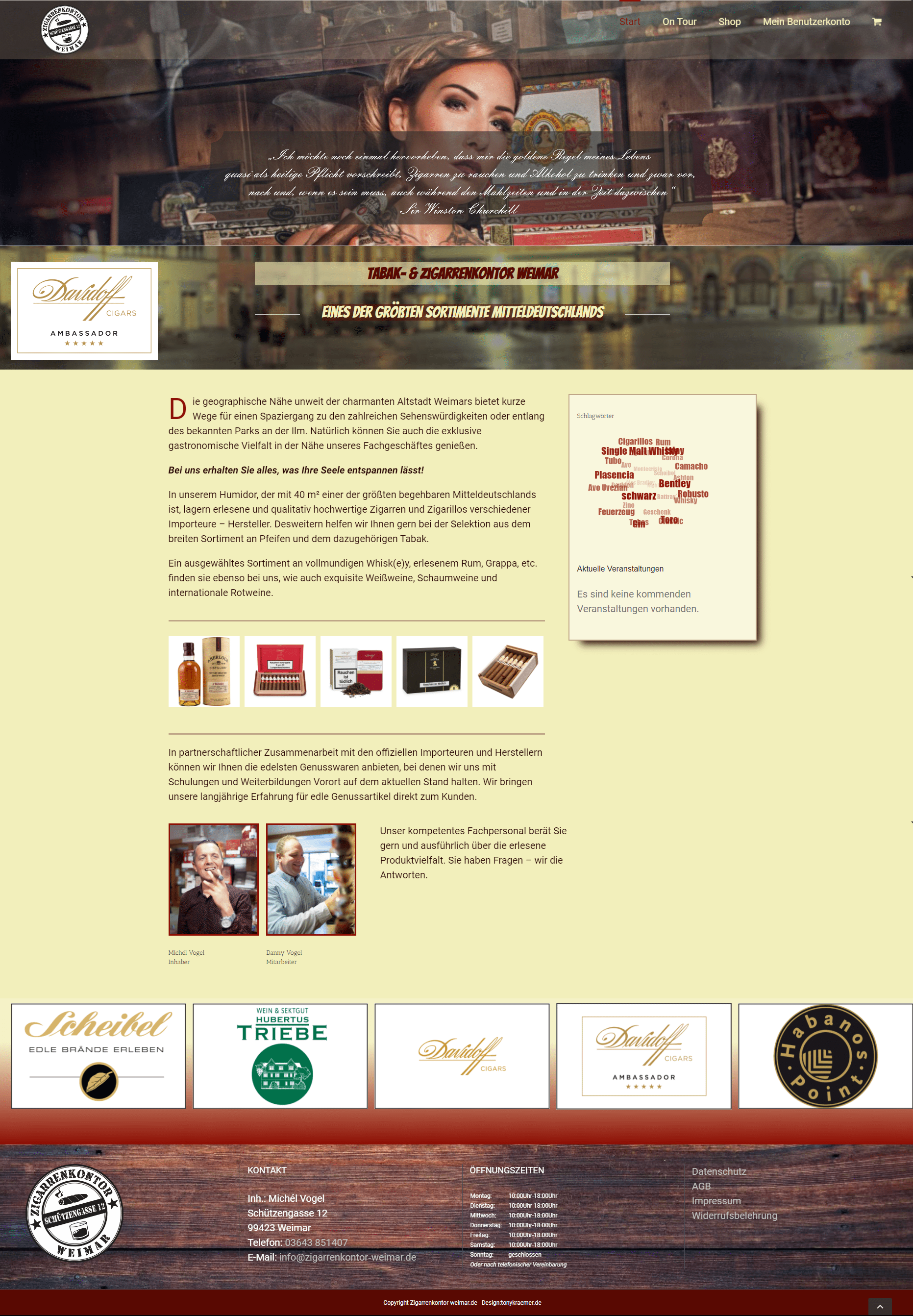 Zigarrenkontor Landingpage