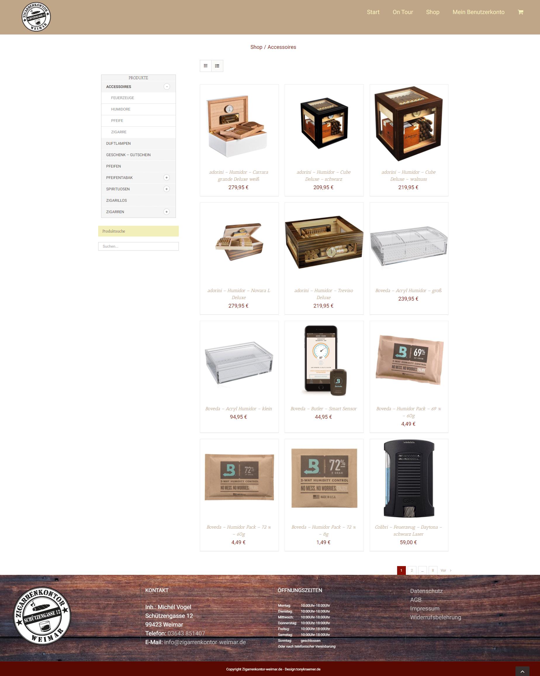 Zigarrenkontor Produkte